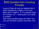 500 question from counting principle