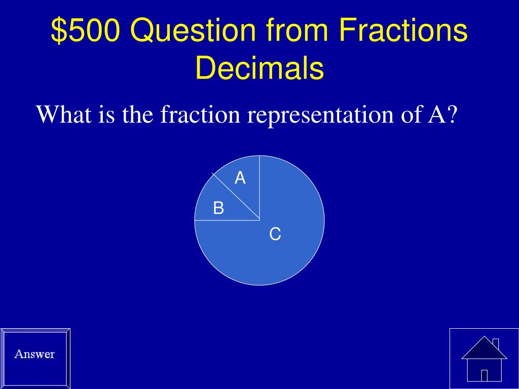 $500 Question from Fractions Decimals