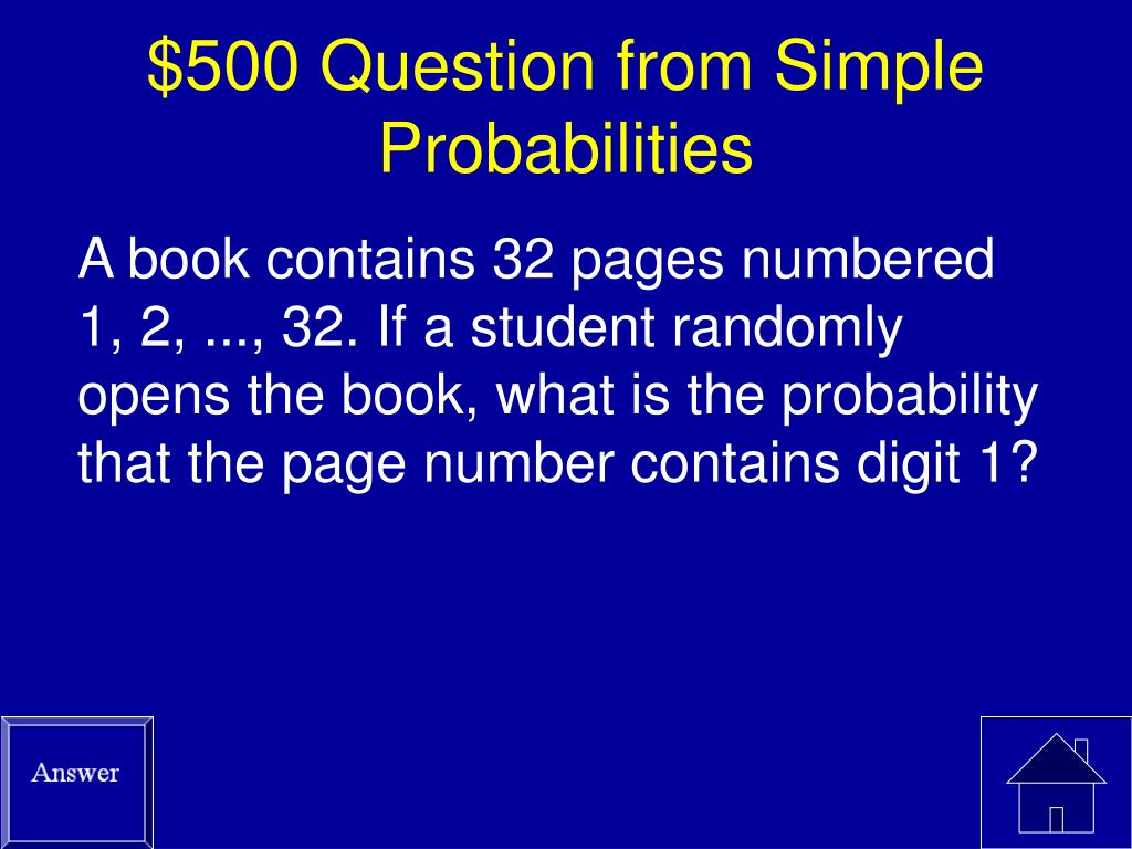 $500 Question from Simple Probabilities