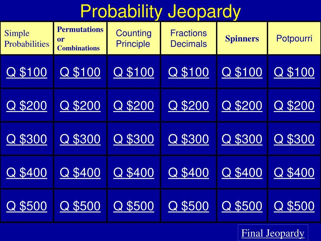 probability jeopardy l.
