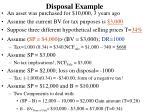 disposal example