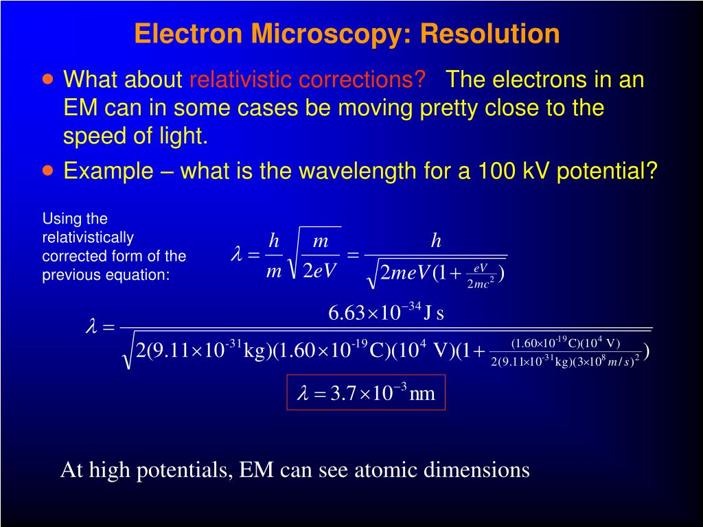 Electron Microscopy: Resolution