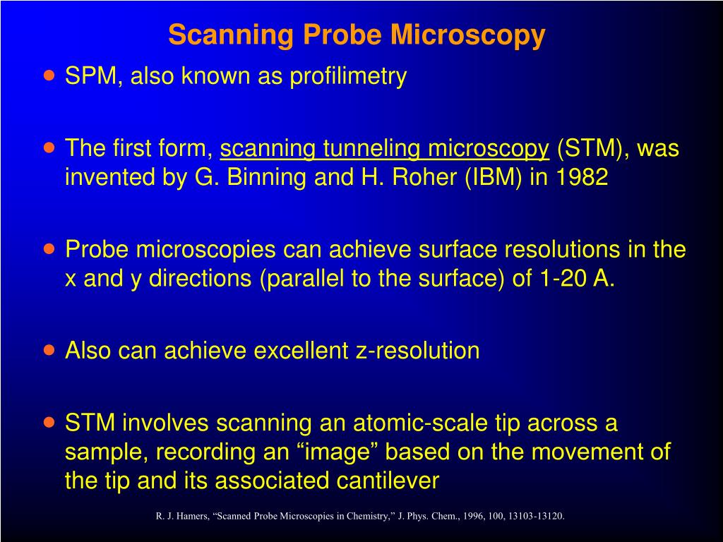 Scanning Probe Microscopy