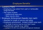 employee benefits14