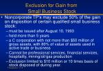 exclusion for gain from small business stock
