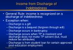 income from discharge of indebtedness