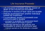 life insurance proceeds