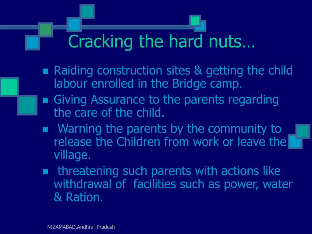 Cracking the hard nuts…