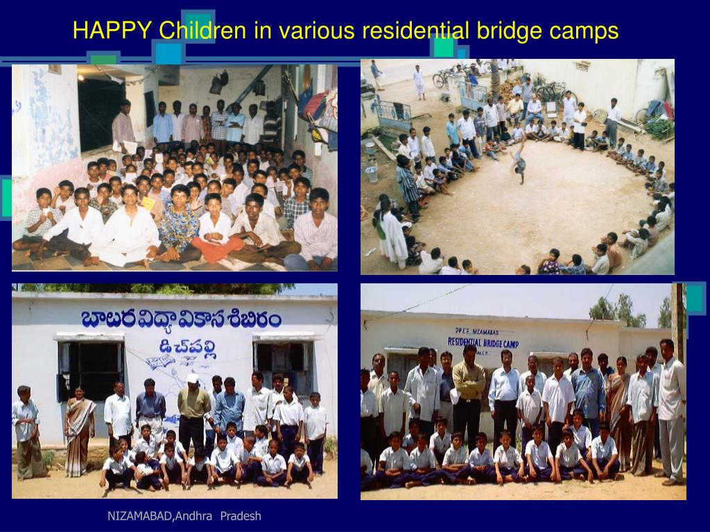 HAPPY Children in various residential bridge camps