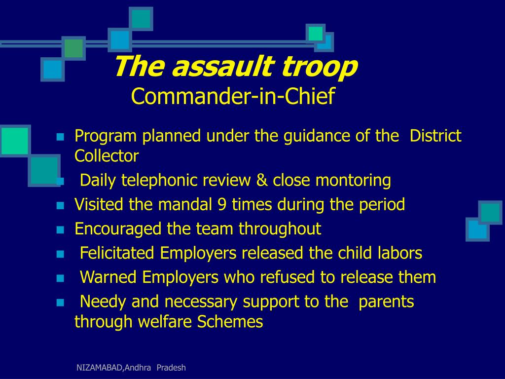 The assault troop