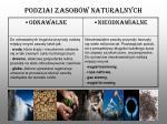 podzia zasob w naturalnych