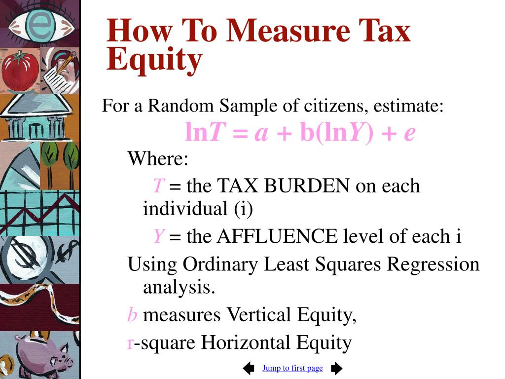 How To Measure Tax Equity