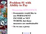 problem 1 with ability to pay