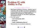 problem 1 with ability to pay20
