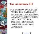 tax avoidance iii