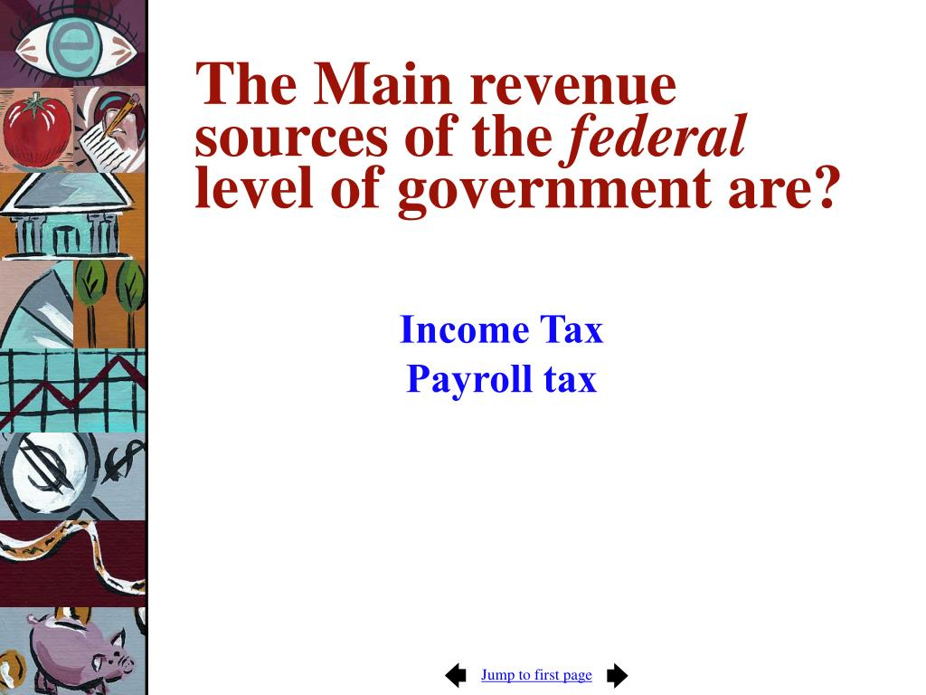 The Main revenue sources of the