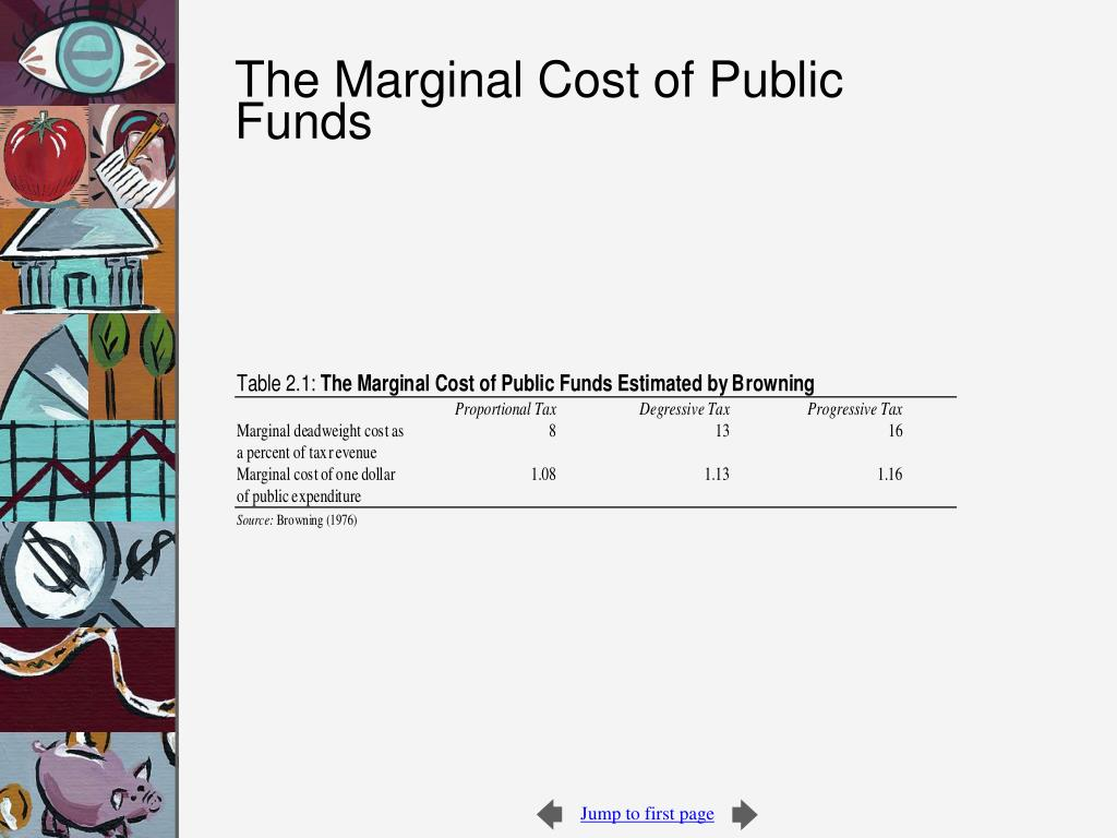 The Marginal Cost of Public Funds