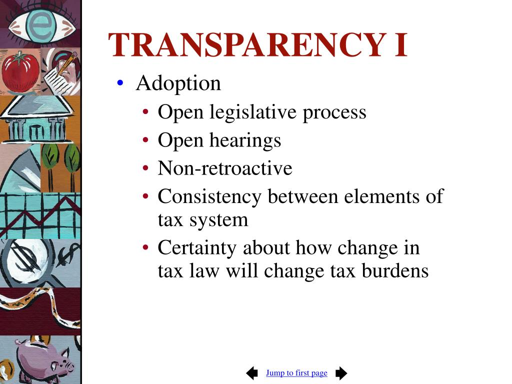 TRANSPARENCY I