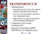 transparency ii