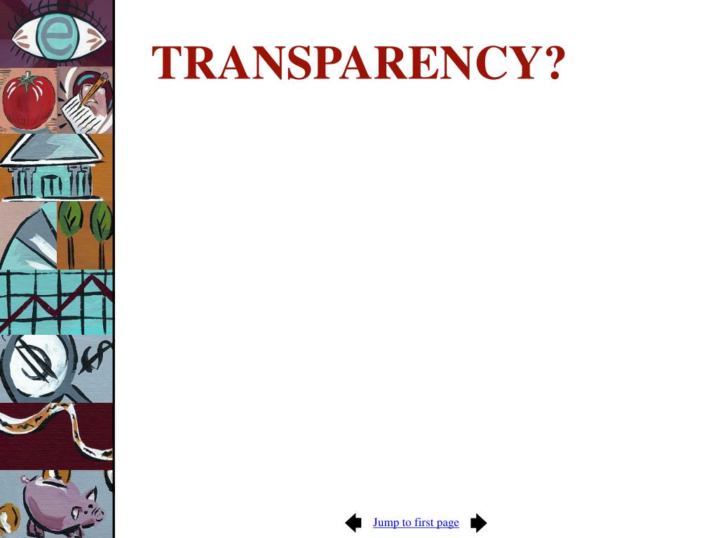 TRANSPARENCY?