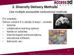 3 diversify delivery methods use multiple accessible instructional methods