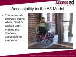 accessibility in the a3 model