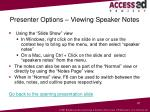 presenter options viewing speaker notes