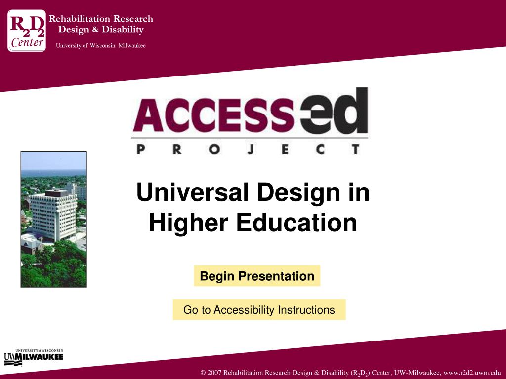 universal design in higher education l.