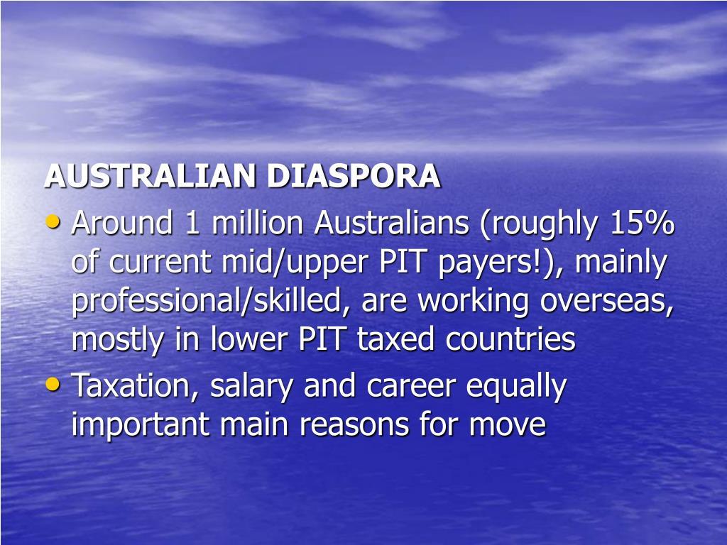 AUSTRALIAN DIASPORA