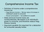 comprehensive income tax