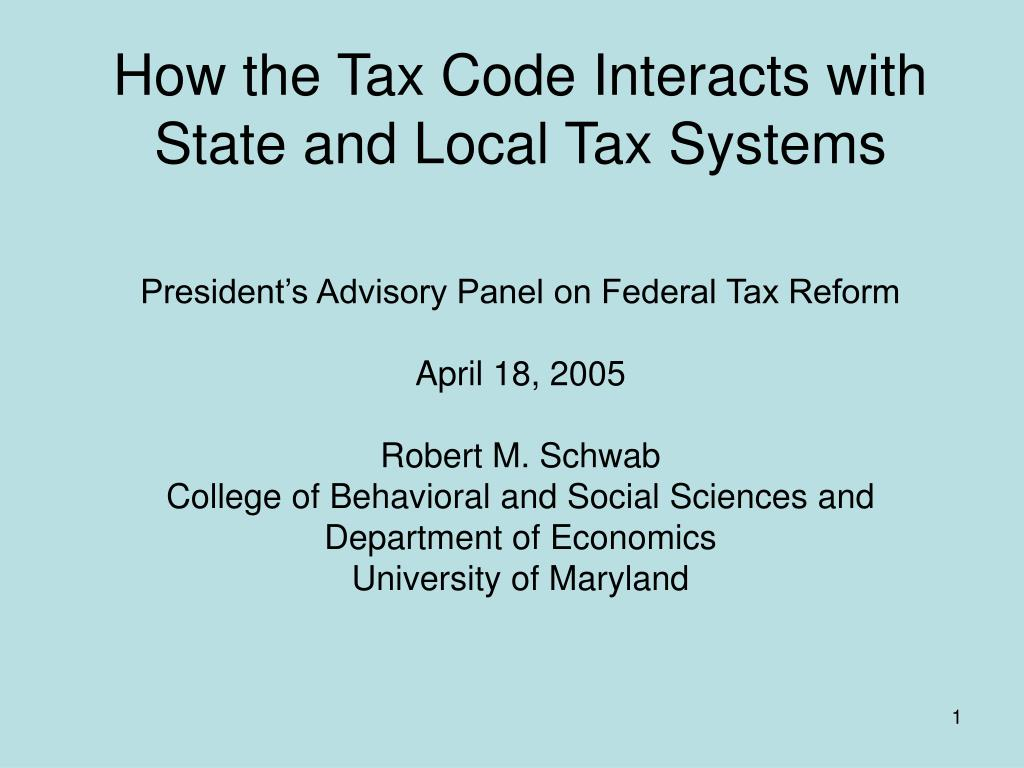 how the tax code interacts with state and local tax systems l.
