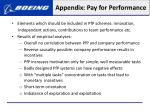 appendix pay for performance