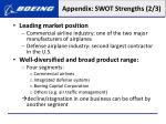 appendix swot strengths 2 3