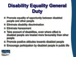 disability equality general duty