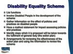 disability equality scheme