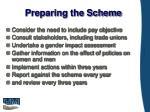 preparing the scheme