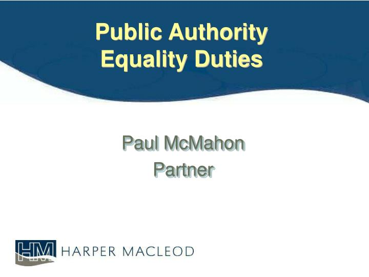 public authority equality duties n.