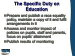 the specific duty on education
