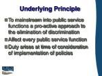 underlying principle