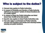 who is subject to the duties