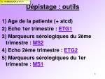 d pistage outils