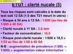 etg1 clart nucale 5