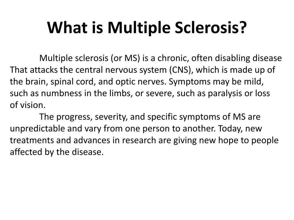What is Multiple Sclerosis?