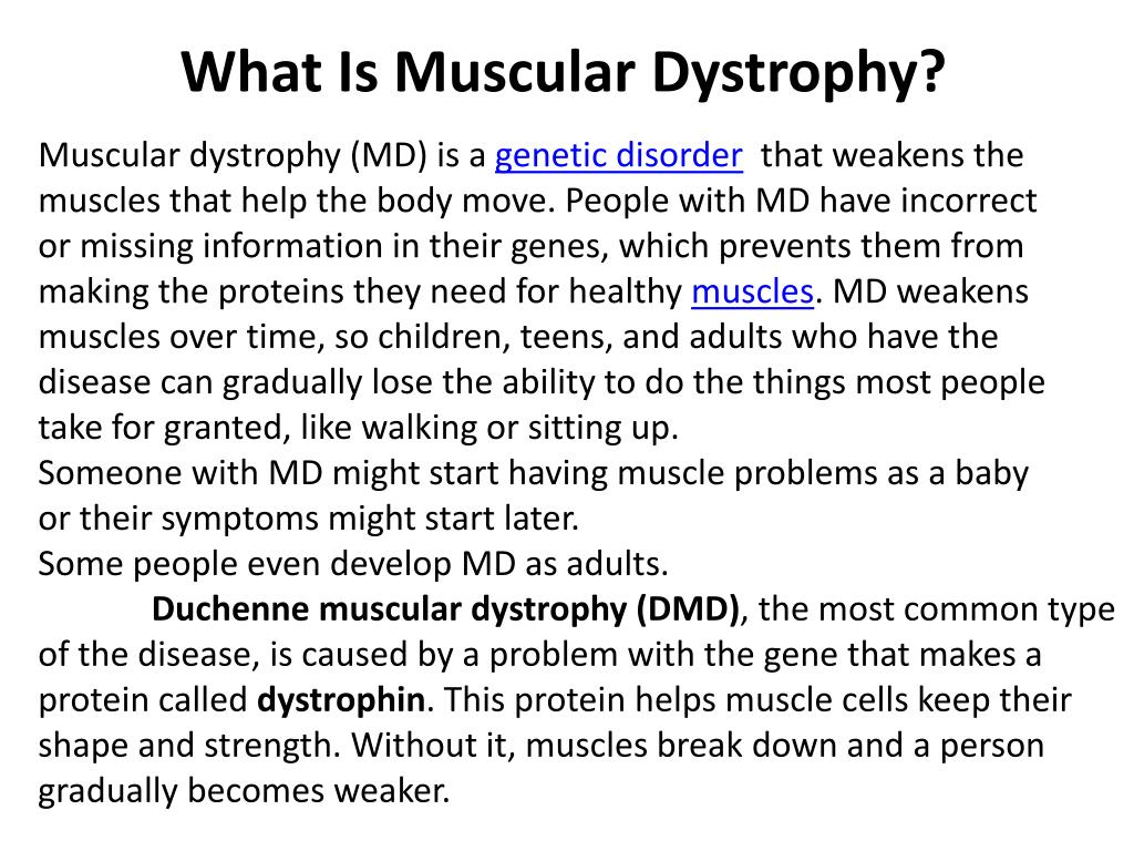 What Is Muscular Dystrophy?