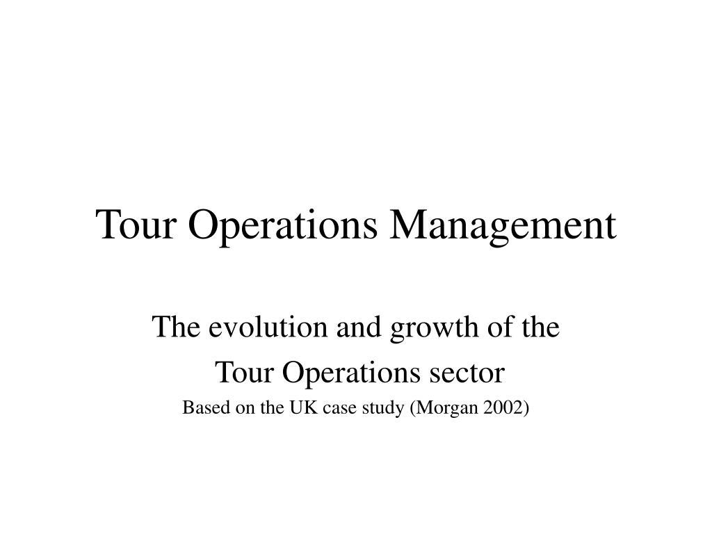 tour operations management l.