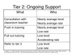 tier 2 ongoing support