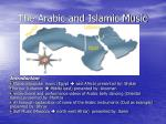 the arabic and islamic music