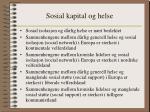 sosial kapital og helse