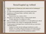 sosial kapital og velferd8