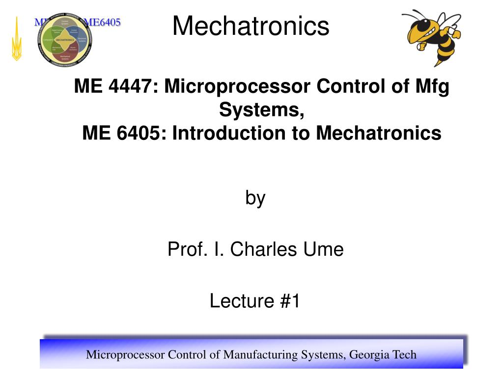 by prof i charles ume lecture 1 l.